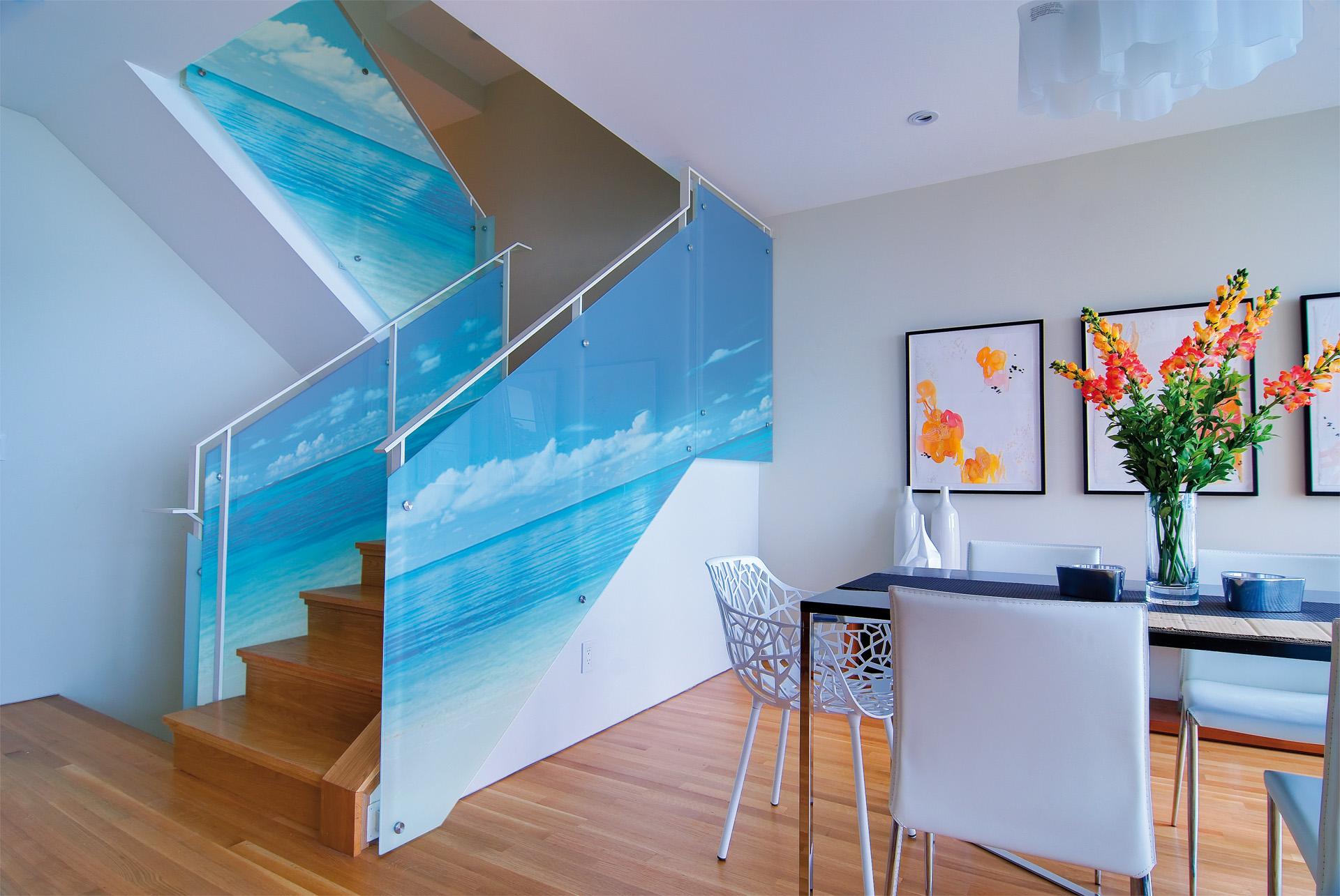 Scala interna per appartamenti - Stampa Nel Vetro